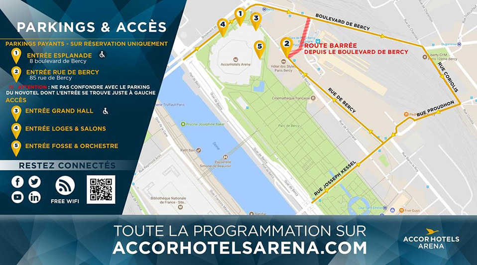 Parking AccorHotels Arena